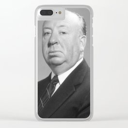 Alfred Hitchcock Portrait Clear iPhone Case