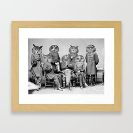 Owls of the Republic Framed Art Print