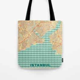 Istanbul Map Retro Tote Bag