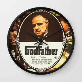 The Godfather, vintage movie poster Wall Clock