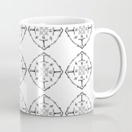 Nautical knots and anchors white Coffee Mug