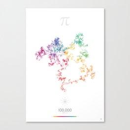 The Art in Pi - 10,000 digits walk Canvas Print