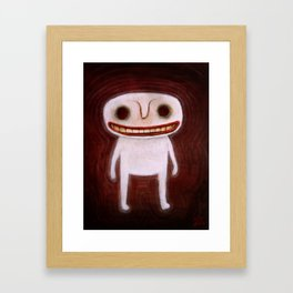 Smily Ghost Framed Art Print