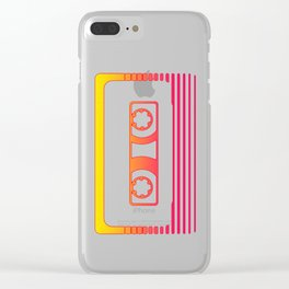 Sunset Cassette Clear iPhone Case