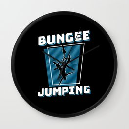 Bungee Jumping Extreme Sport Wall Clock