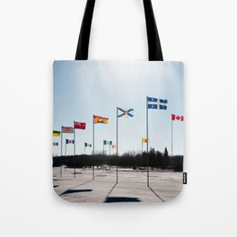 Flags at Bowden Tote Bag