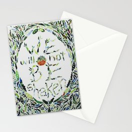 We Will Not Be Shaken Stationery Cards