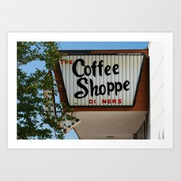 The Coffee Shoppe Art Print