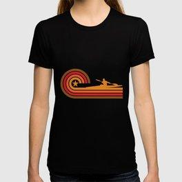 Retro Style Kayaker Silhouette Kayaking T-Shirt T-shirt