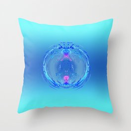 Decorative Ball in pastel blue & pink Throw Pillow