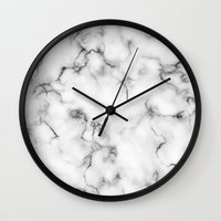 marble Wall Clocks featuring Marble by Will Wild
