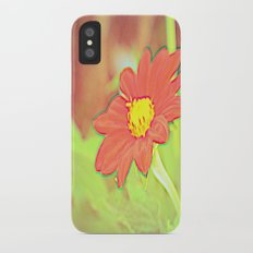 positve negative pop daisy ~ flower Warholia iPhone X Slim Case