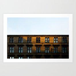 Surface Tension: Dumbarton Road, Glasgow Art Print