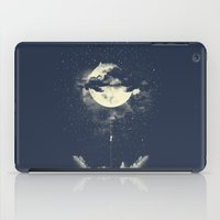 night iPad Cases featuring MOON CLIMBING by los tomatos