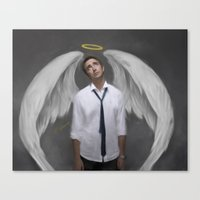 lee pace Canvas Prints featuring Angel Pace by Andi Robinson