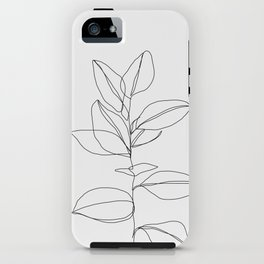 One line plant illustration - Dany iPhone Case