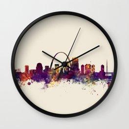 St Louis Missouri Skyline Wall Clock