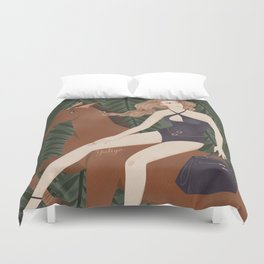 Lady on a horse Duvet Cover