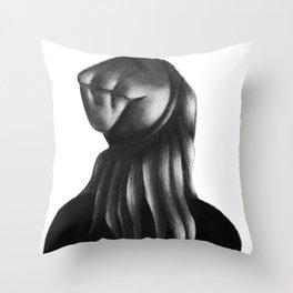 The Beanie Girl Throw Pillow