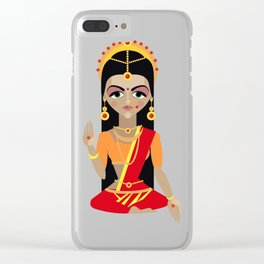 mata Parvati Clear iPhone Case