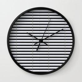 metal shutter background - silver sun blind pattern  Wall Clock