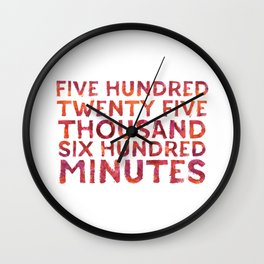 Five Hundred Minutes Wall Clock