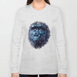 Monkey Watercolor painting Art Long Sleeve T-shirt