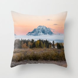 Autumn Sunrise in the Tetons Throw Pillow