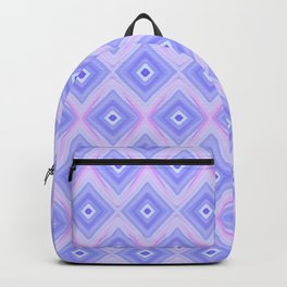 Triple Blue Square Backpack