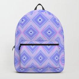 Triple Blue Square Backpack
