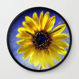 Sunflower Azul Wall Clock
