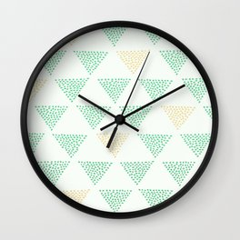 Dotted Triangle Print Wall Clock