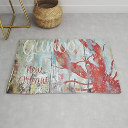 New Orleans Seafood Restaurant Sign Rug