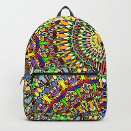 Happy Colorful Jungle Garden Mandala Backpack