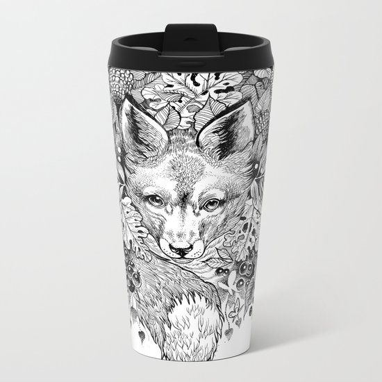 hidden fox Metal Travel Mug