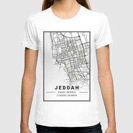 Jeddah Light City Map T-shirt