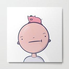 Pig head Metal Print