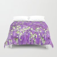 lavender Duvet Covers featuring Lavender by Paula Belle Flores