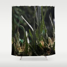 Red Hash Shower Curtain