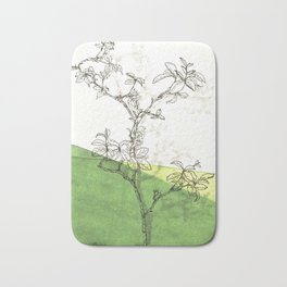 rose branch in spring Bath Mat