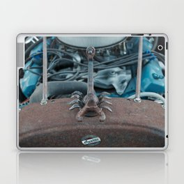 Scorpion in Metal on the Hood of a Hot Rod Laptop & iPad Skin