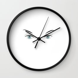 ..just her eyes Wall Clock