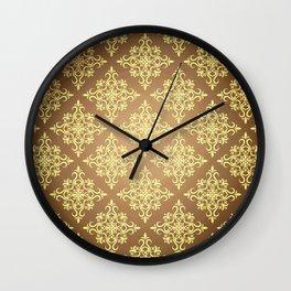 vintage ornamental pattern Wall Clock