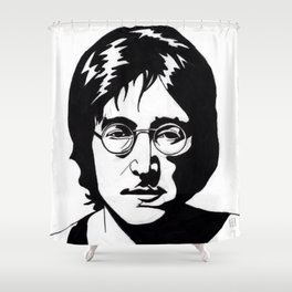 A Working Class Hero Is Something To Be Shower Curtain