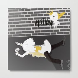 Humpty Dumpty vs Mother Goose Metal Print