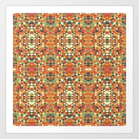 Aztec Quilt Art Print