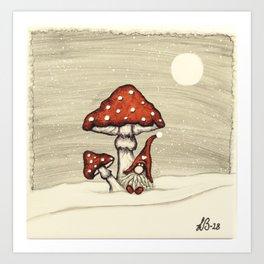 """Tomten Elmer"" playing hide and seek. Art Print"