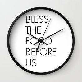Bless the Food Before Us Wall Clock