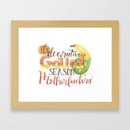 It's Decorative Gourd Season Framed Art Print