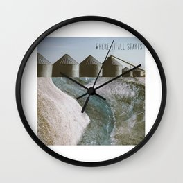 Storing Up All The Clues (Where It All Starts) Wall Clock